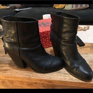 Rag & Bone Black Leather Newbury boots